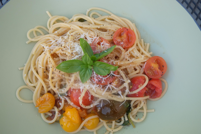 angerichtete Spaghettti