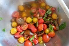 Tomaten, Knoblauch, Gewürze